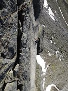 Rock Climbing Photo: Pitch six from above