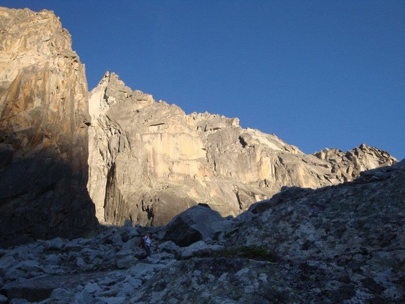 West ridge in the late afternoon sun in high summer