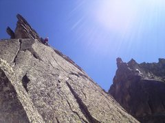 Rock Climbing Photo: Midway in the route