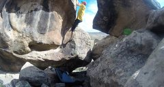 Rock Climbing Photo: Don't be a sissy and use the right easy off, go up...