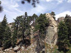 Rock Climbing Photo: Siberia Creek Tower (SW Face), Big Bear South