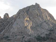 Rock Climbing Photo: Lambda Wall as seen from approach.