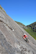 Rock Climbing Photo: Anthony Seidita on the first pitch of Ranger on th...