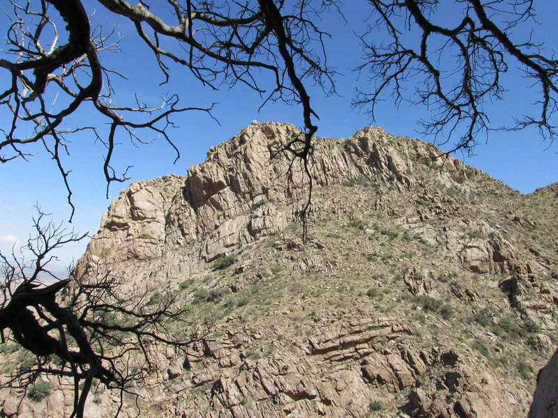 Rock Climbing Photo: Lambda Wall viewed from top of Pitch 1 of Bucky Bl...