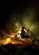 Rock Climbing Photo: Erin gettin' the knee bar on Bring the Ruckus