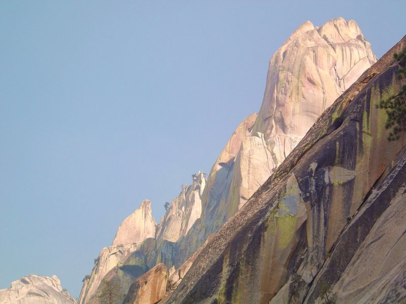 postcard view of the Needles from base of WPOD