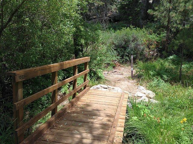 The first wooden boardwalk along the Siberia Creek Trail, Big Bear South