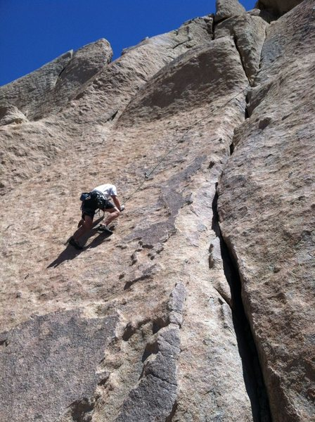 Eric enjoying some fun face climbing at Valley of the Moon.