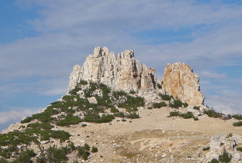 Cockscomb peak from southwest