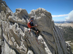 Rock Climbing Photo: tricky moves by north end of (optional) overhangin...