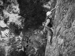 "Rock Climbing Photo: Evan Urton working ""Fries with that Mantle&qu..."