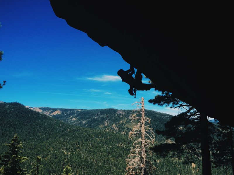 "Rock Climbing Photo: Urs Moosmuller onsighting ""All Guns Blazing&q..."