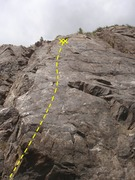 Rock Climbing Photo: Its a bit runout at the start so take care not to ...