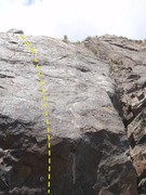 Rock Climbing Photo: This is the middle climb on the left slab.