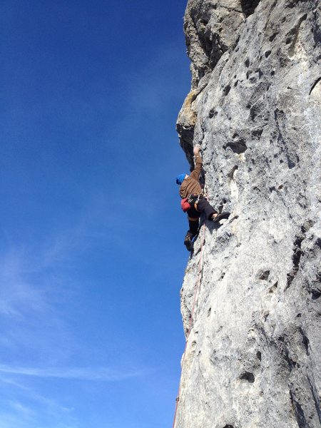 Rock Climbing Photo: Valerie N in Harakiri