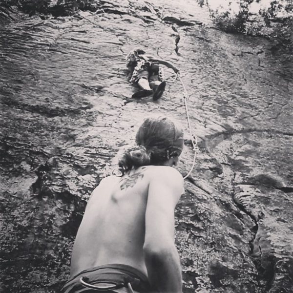 From 2013<br> A 5.7 5.8 mixed trad/sport route. <br> I will update the name soon.