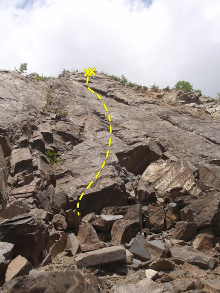 Rock Climbing Photo: Use the overhang as a shield to protect the belaye...