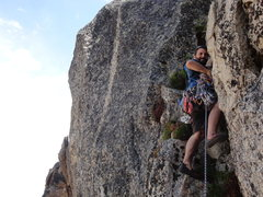 Rock Climbing Photo: This is the way we went for the second pitch, but ...
