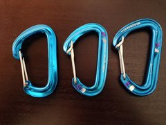 Rock Climbing Photo: Black Diamond wire gate carabiners.