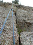 Rock Climbing Photo:  A close view of the upper part of the crack.