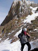 Rock Climbing Photo: Descending Round Top after climbing crescent moon ...