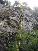 Rock Climbing Photo: This is another long sport route past lots of loos...