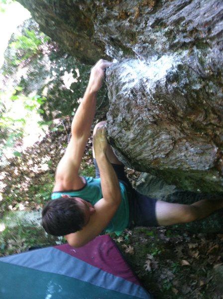 Rock Climbing Photo: Matt Wallace on the first move