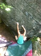 Rock Climbing Photo: The sit start, stack pads as necessary to reach th...