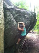 Rock Climbing Photo: Cool movement on this line
