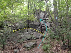 "Rock Climbing Photo: 3. Trail ""junction"" (10 mins from parkin..."
