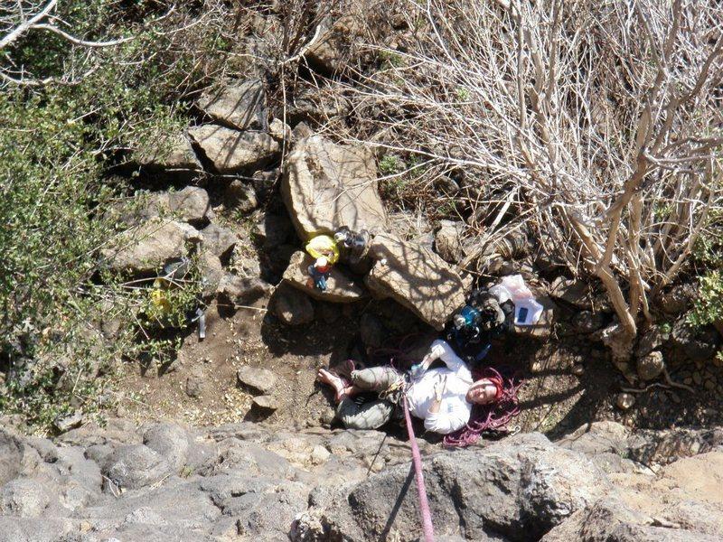 Rock Climbing Photo: Belaying on Senior Wall