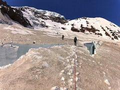Rock Climbing Photo: snow bridge dawg