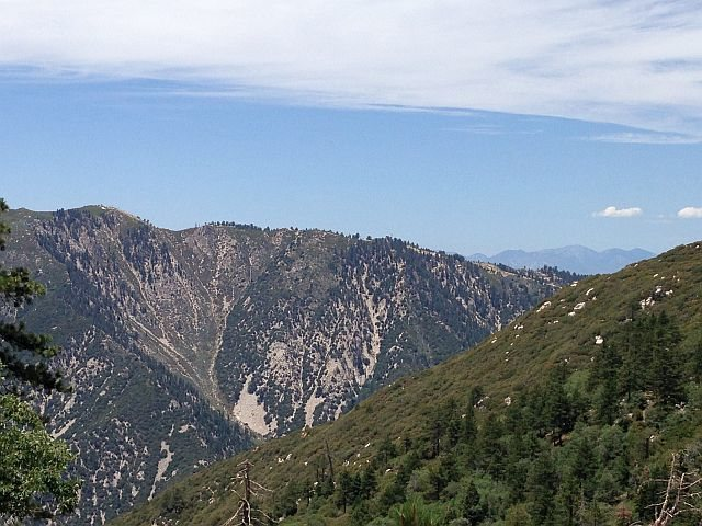 Rock Climbing Photo: Slide Peak from the Siberia Creek Trail, San Berna...