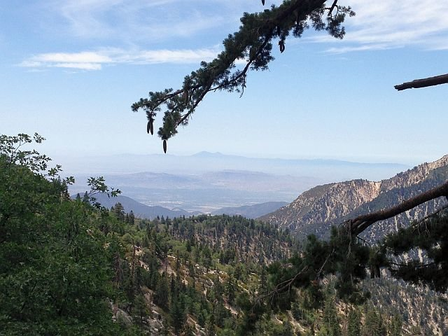 Looking towards the Santa Ana Mountains from the Siberia Creek Trail, Big Bear South