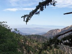 Rock Climbing Photo: Looking towards the Santa Ana Mountains from the S...