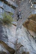 Rock Climbing Photo: La voie était recouverte d'un mince verglas pour ...