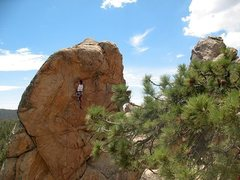 Rock Climbing Photo: Mike Williams on Mighty Quinn (5.10c), Holcomb Val...