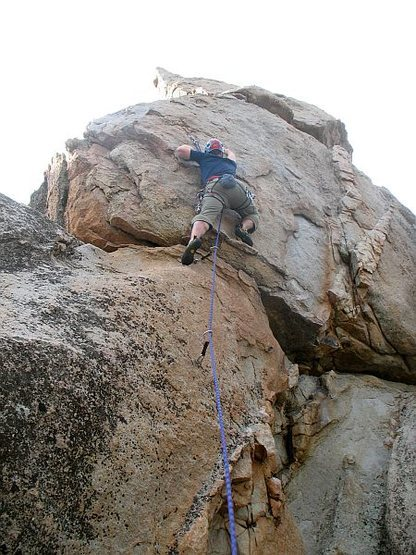 Guys and Dolls (5.9), Holcomb Valley Pinnacles