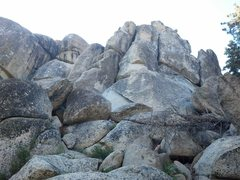 Rock Climbing Photo: View from boulder laden gully of SE face of Siberi...