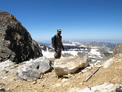 Rock Climbing Photo: Middle and South Teton saddle