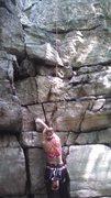 Rock Climbing Photo: Beginning of Reach Around