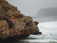 Rock Climbing Photo: Climbing some bluffs in Oman