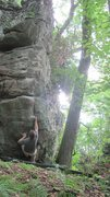 Rock Climbing Photo: Moving off the sit start