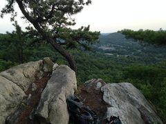 Rock Climbing Photo: The top of Route 1.