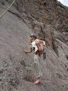 Rock Climbing Photo:  Norah sans shoes.