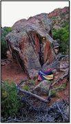 Rock Climbing Photo: See Emily Play problem beta.