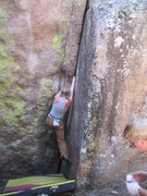 Rock Climbing Photo: Merideth on Out of Sight.