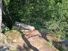 Rock Climbing Photo: Position Dreadlock TR anchor here.