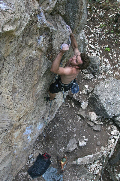 Rock Climbing Photo: Last few moves.