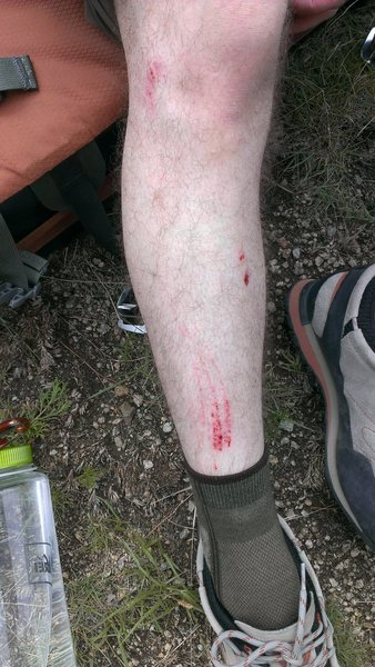 Rock Climbing Photo: don't slip at the bulge.